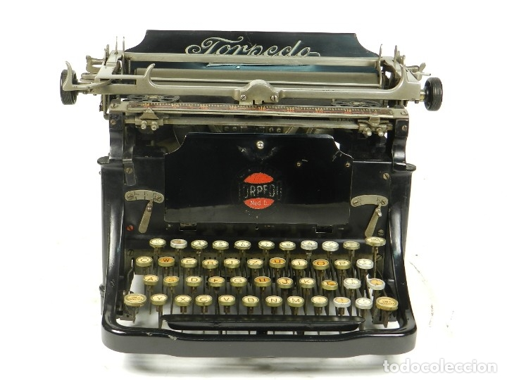 Antigüedades: RARA TORPEDO Mod.5 AÑO 1911 Máquina de escribir Typewriter Schreibmaschine - Foto 7 - 168851940