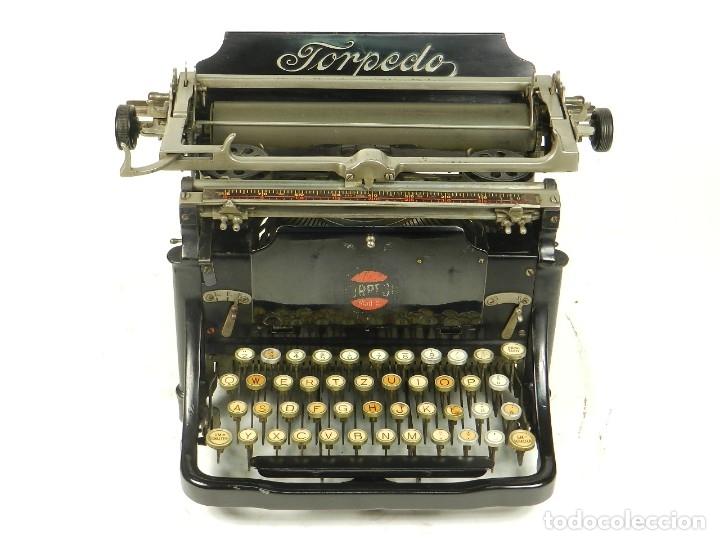 Antigüedades: RARA TORPEDO Mod.5 AÑO 1911 Máquina de escribir Typewriter Schreibmaschine - Foto 8 - 168851940