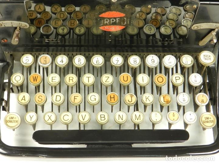 Antigüedades: RARA TORPEDO Mod.5 AÑO 1911 Máquina de escribir Typewriter Schreibmaschine - Foto 9 - 168851940