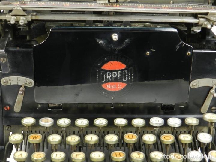 Antigüedades: RARA TORPEDO Mod.5 AÑO 1911 Máquina de escribir Typewriter Schreibmaschine - Foto 10 - 168851940