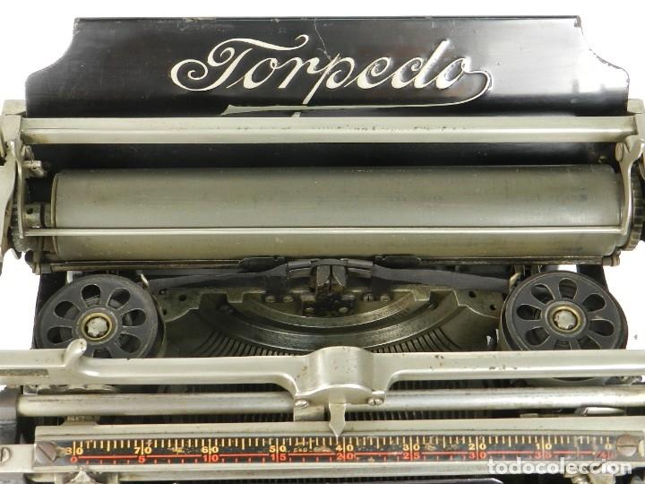 Antigüedades: RARA TORPEDO Mod.5 AÑO 1911 Máquina de escribir Typewriter Schreibmaschine - Foto 11 - 168851940