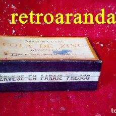 Antigüedades: MEDICAMENTO FARMACIA DERMOSA CUSÍ COLA DE ZINC (SOLO ENVASE). Lote 168854760
