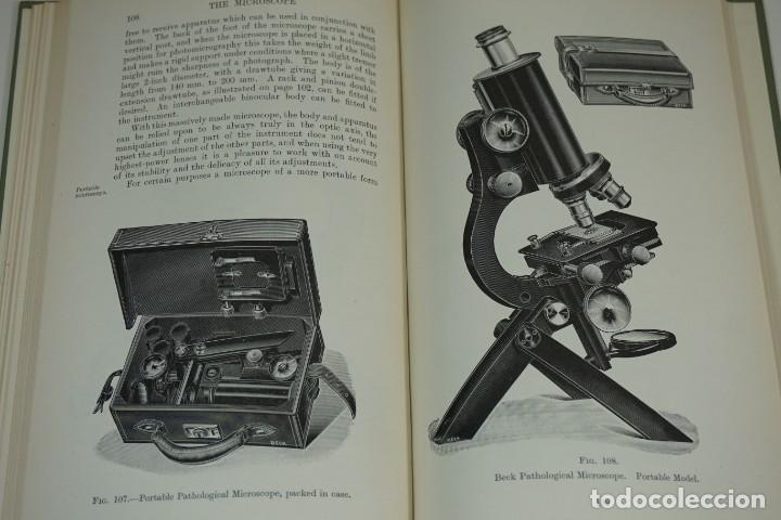 "MICROSCOPIO. LIBRO VINTAGE ""THE MICROSCOPE, A SIMPLE HANDBOOK"" 1930 (Antigüedades - Técnicas - Instrumentos Ópticos - Microscopios Antiguos)"