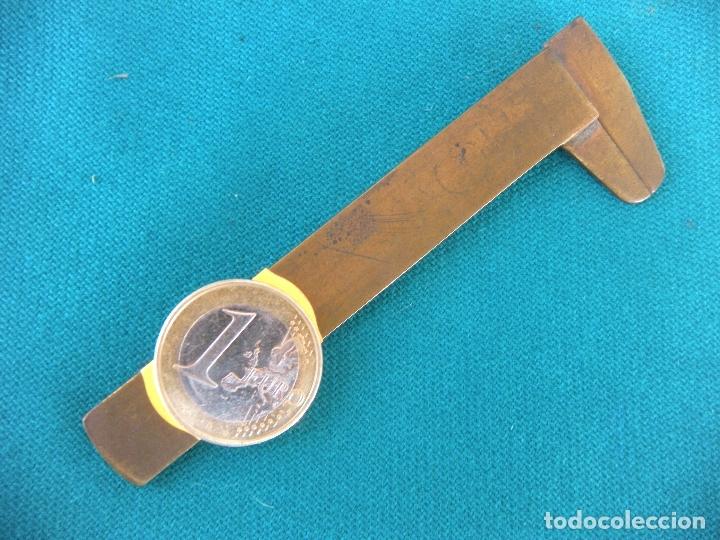 Antigüedades: PEQUEÑO CALIBRE DE BRONCE - Foto 2 - 168978240