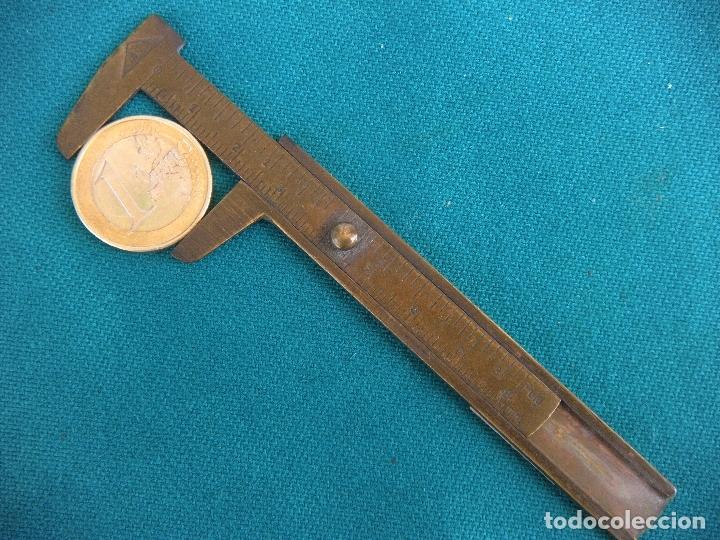 Antigüedades: PEQUEÑO CALIBRE DE BRONCE - Foto 5 - 168978240