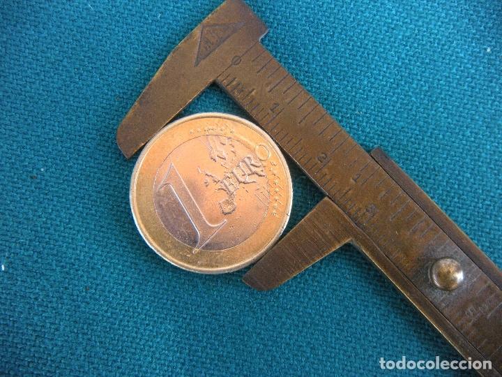 PEQUEÑO CALIBRE DE BRONCE (Antigüedades - Técnicas - Herramientas Profesionales - Mecánica)