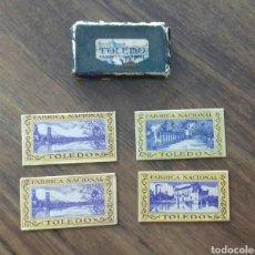 Antigüedades: LOTE DE HOJAS DE AFEITAR TOLEDO. Lote 169013890