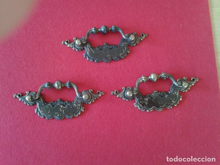 Antigüedades: 6 TIRADORES POMOS METAL C-62 - Foto 3 - 169020936