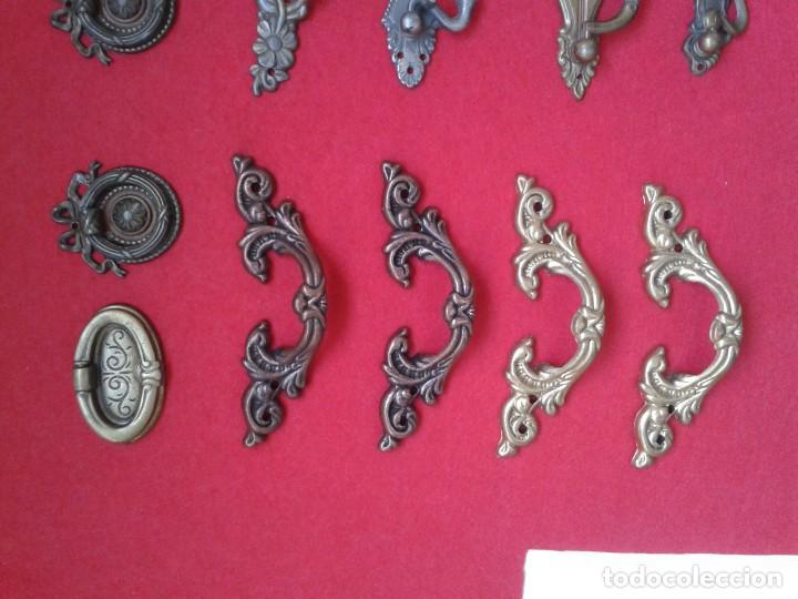 Antigüedades: 12 TIRADORES POMOS METAL C-64 - Foto 2 - 169021232