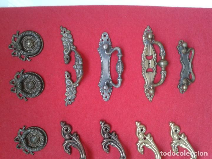 Antigüedades: 12 TIRADORES POMOS METAL C-64 - Foto 3 - 169021232