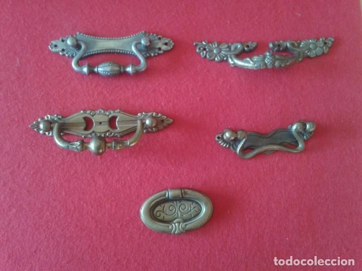 Antigüedades: 12 TIRADORES POMOS METAL C-64 - Foto 7 - 169021232