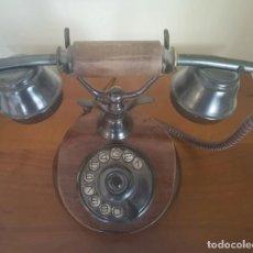 Teléfonos: TELÉFONO DE MADERA Y METAL ONIX TERMAL FUNCIONANDO. Lote 169066212