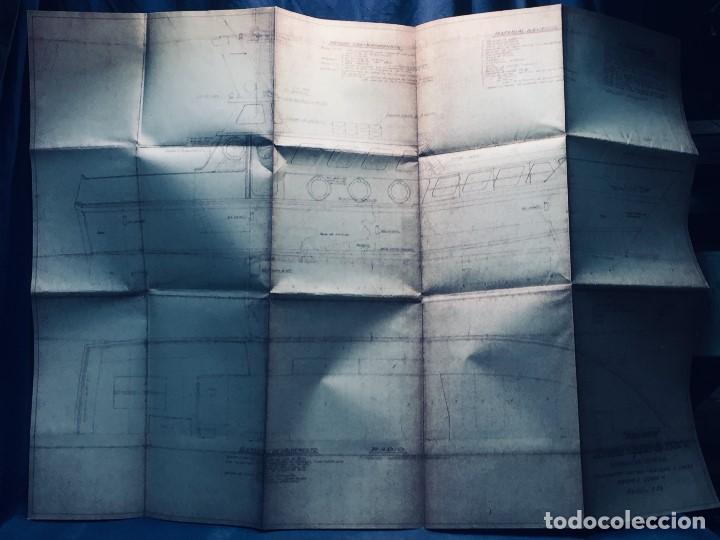 Antigüedades: PLANO PALOMITA LANCHA RAPIDA DE 15,80M ESCALA 1:20 SALVAMENTO CONTRA INCENDIOS Y LUCES 30,5X21CMS - Foto 9 - 169072468