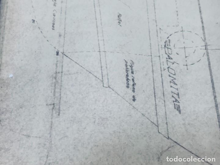 Antigüedades: PLANO PALOMITA LANCHA RAPIDA DE 15,80M ESCALA 1:20 SALVAMENTO CONTRA INCENDIOS Y LUCES 30,5X21CMS - Foto 12 - 169072468