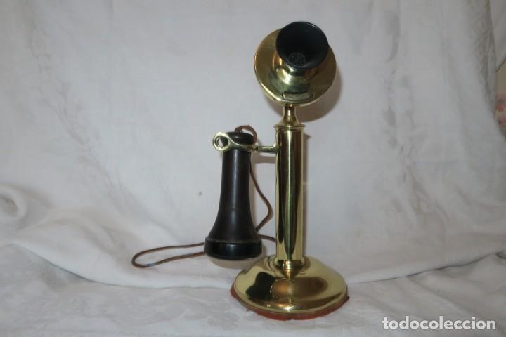 TELEFONO ANTIGUO WENSTER ELECTRIC ,PAT 1904,AGTO1916,, (Antigüedades - Técnicas - Teléfonos Antiguos)