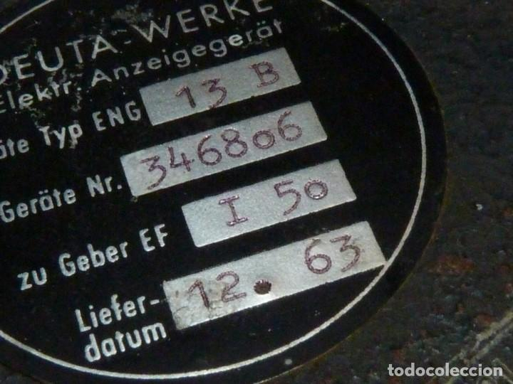 Antigüedades: RARO CUENTA KILOMETROS TREN DEUTA WERKE C/KM VELOCIMETRO FERROCARRIL 1961 COLECCION - Foto 7 - 169132072