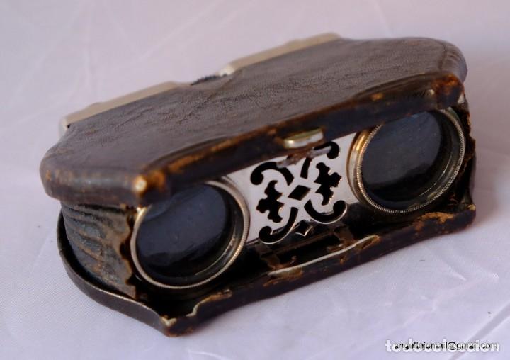 BINOCULARES DE TEATRO.1870 PRECIOSOS.PLEGABLES. (Antigüedades - Técnicas - Instrumentos Ópticos - Binoculares Antiguos)