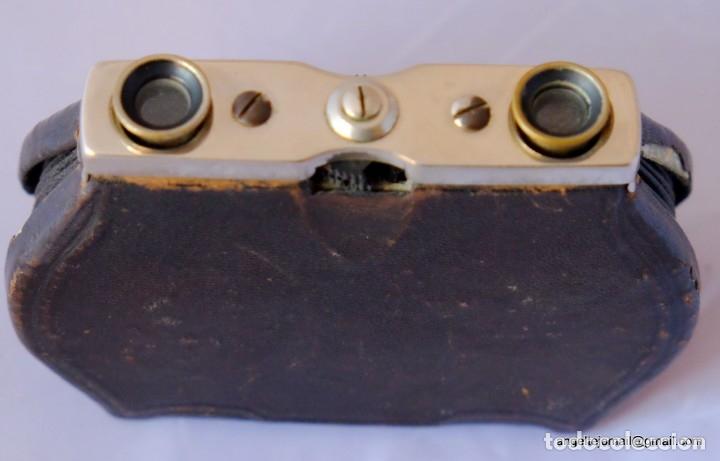 Antigüedades: Binoculares de teatro.1870 PRECIOSOS.plegables. - Foto 5 - 54608180