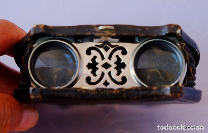 Antigüedades: Binoculares de teatro.1870 PRECIOSOS.plegables. - Foto 4 - 54608180
