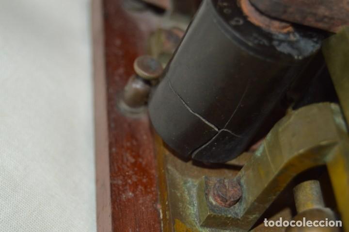 Antigüedades: Relé Telegráfico MAISON BREGUET - Finales 1800 RELAIS TELEGRAPHIQUE BAUDOT - EARLY TELEGRAPH RELAY - Foto 6 - 169177725