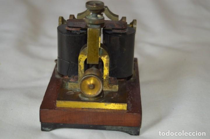 Antigüedades: Relé Telegráfico MAISON BREGUET - Finales 1800 RELAIS TELEGRAPHIQUE BAUDOT - EARLY TELEGRAPH RELAY - Foto 11 - 169177725