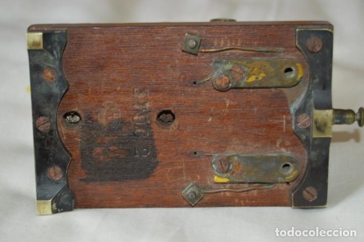 Antigüedades: Relé Telegráfico MAISON BREGUET - Finales 1800 RELAIS TELEGRAPHIQUE BAUDOT - EARLY TELEGRAPH RELAY - Foto 14 - 169177725