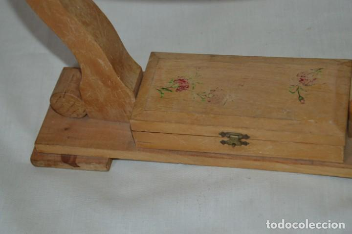 Antigüedades: VINTAGE - Antiguo BASTIDOR o TAMBOR de BORDAR, en madera, muy antiguo, mira fotos y detalles - Foto 4 - 169179136