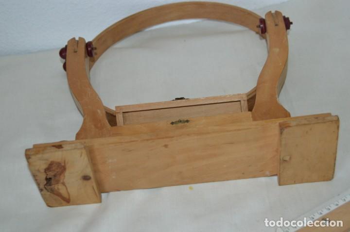 Antigüedades: VINTAGE - Antiguo BASTIDOR o TAMBOR de BORDAR, en madera, muy antiguo, mira fotos y detalles - Foto 19 - 169179136