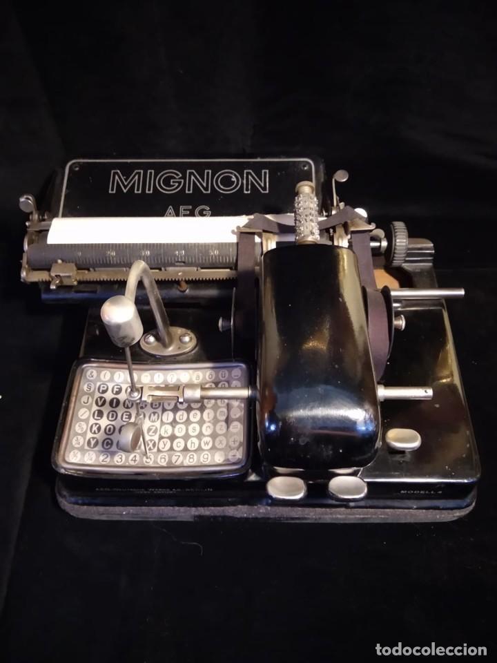 MAQUINA DE ESCRIBIR MIGNON (Antigüedades - Técnicas - Máquinas de Escribir Antiguas - Mignon)