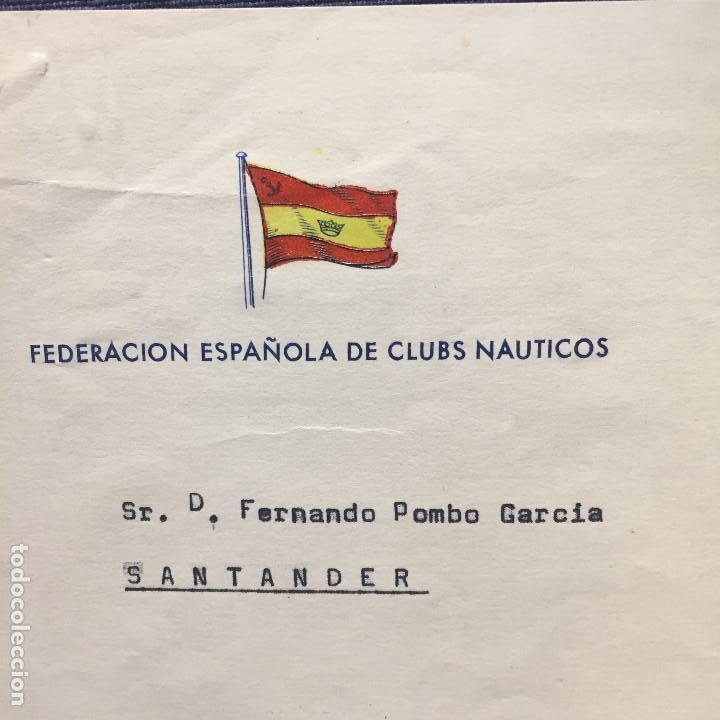 Antigüedades: federacion española clubs nauticos adjudicacion regata barco clase star 1965 santander - Foto 2 - 169209552