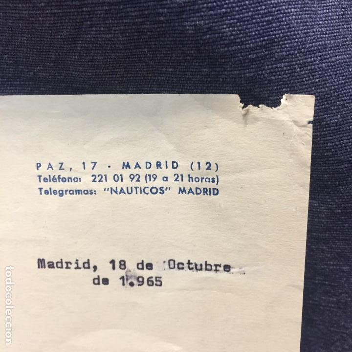 Antigüedades: federacion española clubs nauticos adjudicacion regata barco clase star 1965 santander - Foto 3 - 169209552