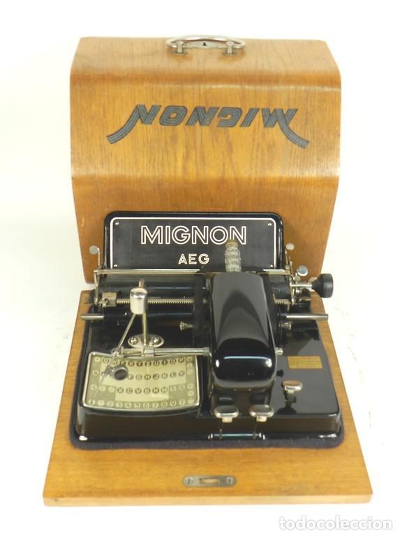 IMPECABLE MIGNON Nº4 AÑO 1924 MAQUINA DE ESCRIBIR TYPEWRITER SCHREIBMASCHINE (Antigüedades - Técnicas - Máquinas de Escribir Antiguas - Mignon)