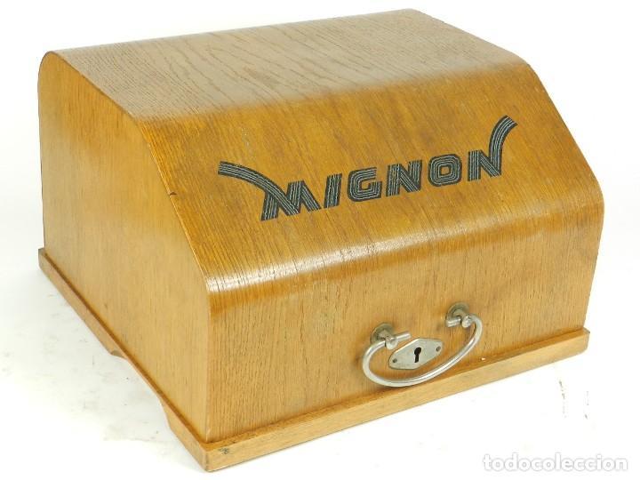 Antigüedades: IMPECABLE MIGNON Nº4 AÑO 1924 Maquina de escribir Typewriter Schreibmaschine - Foto 3 - 169236128
