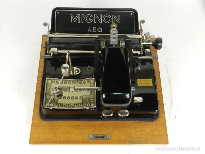 Antigüedades: IMPECABLE MIGNON Nº4 AÑO 1924 Maquina de escribir Typewriter Schreibmaschine - Foto 4 - 169236128