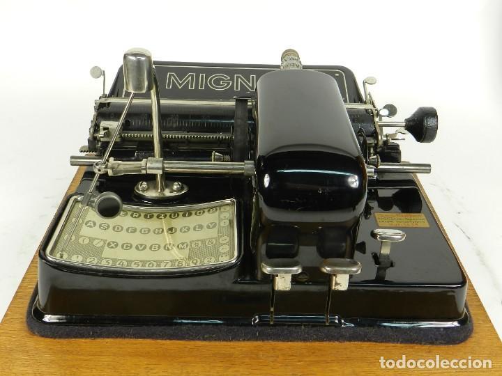 Antigüedades: IMPECABLE MIGNON Nº4 AÑO 1924 Maquina de escribir Typewriter Schreibmaschine - Foto 5 - 169236128