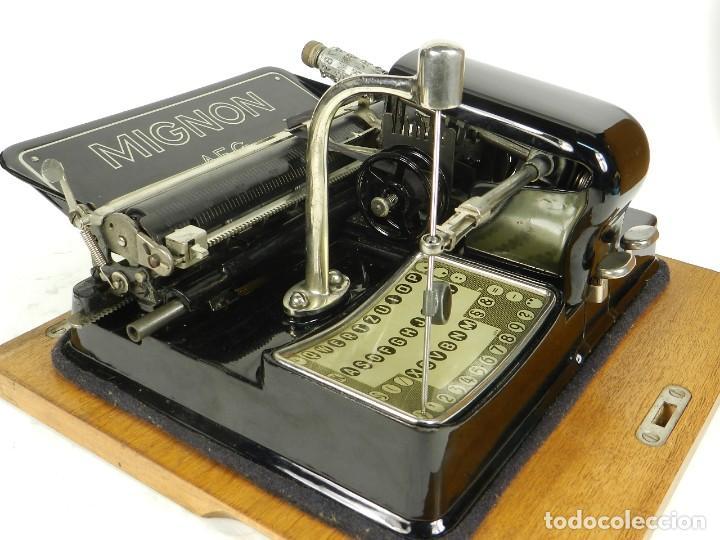 Antigüedades: IMPECABLE MIGNON Nº4 AÑO 1924 Maquina de escribir Typewriter Schreibmaschine - Foto 7 - 169236128