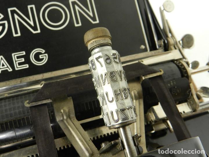 Antigüedades: IMPECABLE MIGNON Nº4 AÑO 1924 Maquina de escribir Typewriter Schreibmaschine - Foto 8 - 169236128