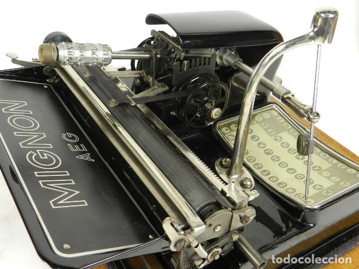 Antigüedades: IMPECABLE MIGNON Nº4 AÑO 1924 Maquina de escribir Typewriter Schreibmaschine - Foto 10 - 169236128