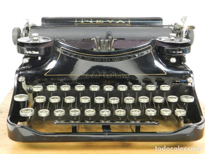 Antigüedades: NEYA AÑO 1925 Maquina de escribir Typewriter Schreibmaschine - Foto 4 - 169237252