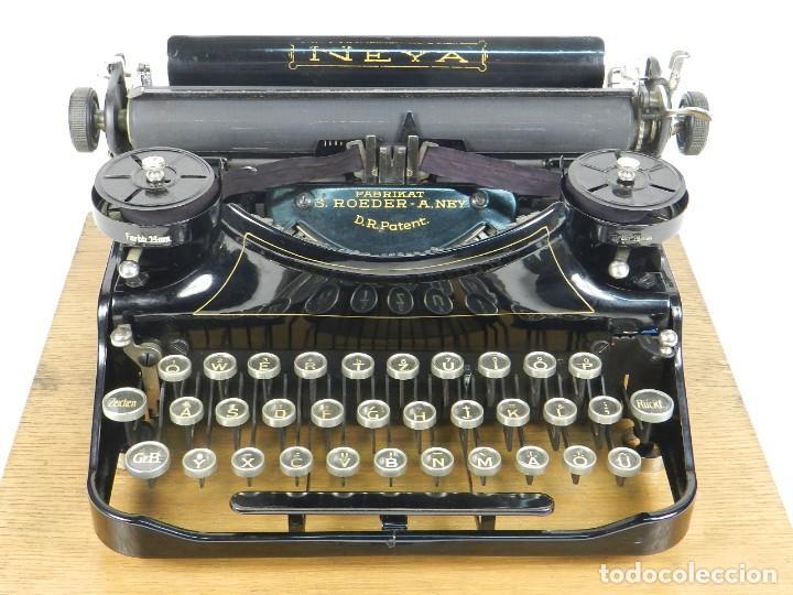 Antigüedades: NEYA AÑO 1925 Maquina de escribir Typewriter Schreibmaschine - Foto 5 - 169237252