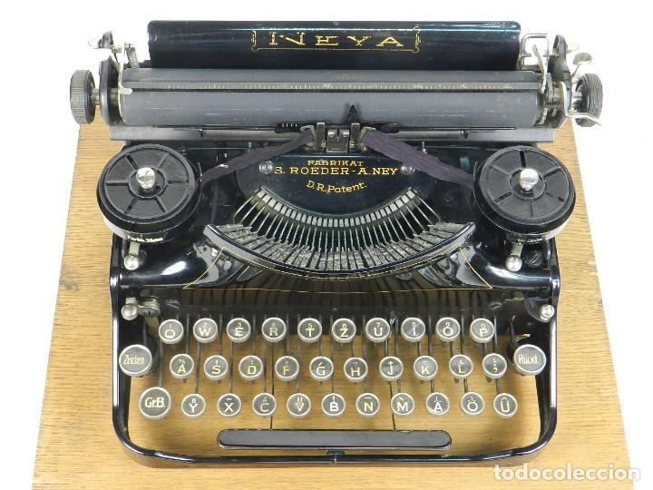 Antigüedades: NEYA AÑO 1925 Maquina de escribir Typewriter Schreibmaschine - Foto 6 - 169237252