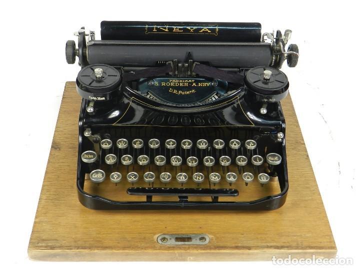 Antigüedades: NEYA AÑO 1925 Maquina de escribir Typewriter Schreibmaschine - Foto 7 - 169237252
