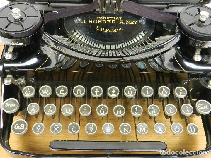 Antigüedades: NEYA AÑO 1925 Maquina de escribir Typewriter Schreibmaschine - Foto 8 - 169237252
