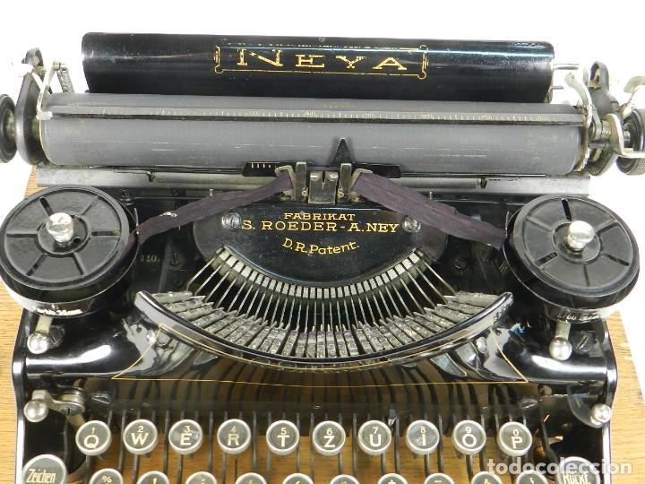 Antigüedades: NEYA AÑO 1925 Maquina de escribir Typewriter Schreibmaschine - Foto 9 - 169237252