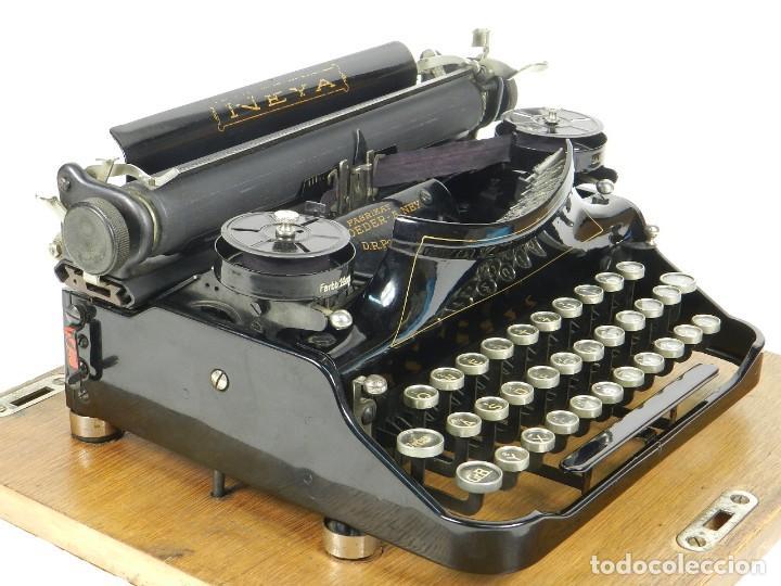 Antigüedades: NEYA AÑO 1925 Maquina de escribir Typewriter Schreibmaschine - Foto 12 - 169237252