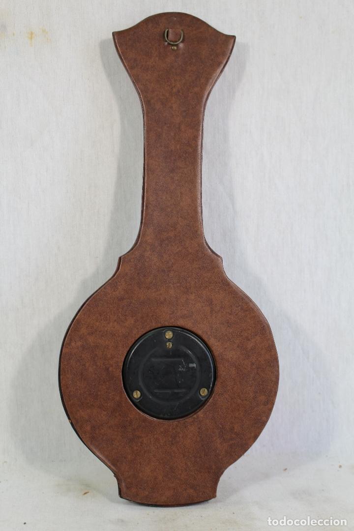 Antigüedades: barometro termometro en semipiel - Foto 2 - 169264256