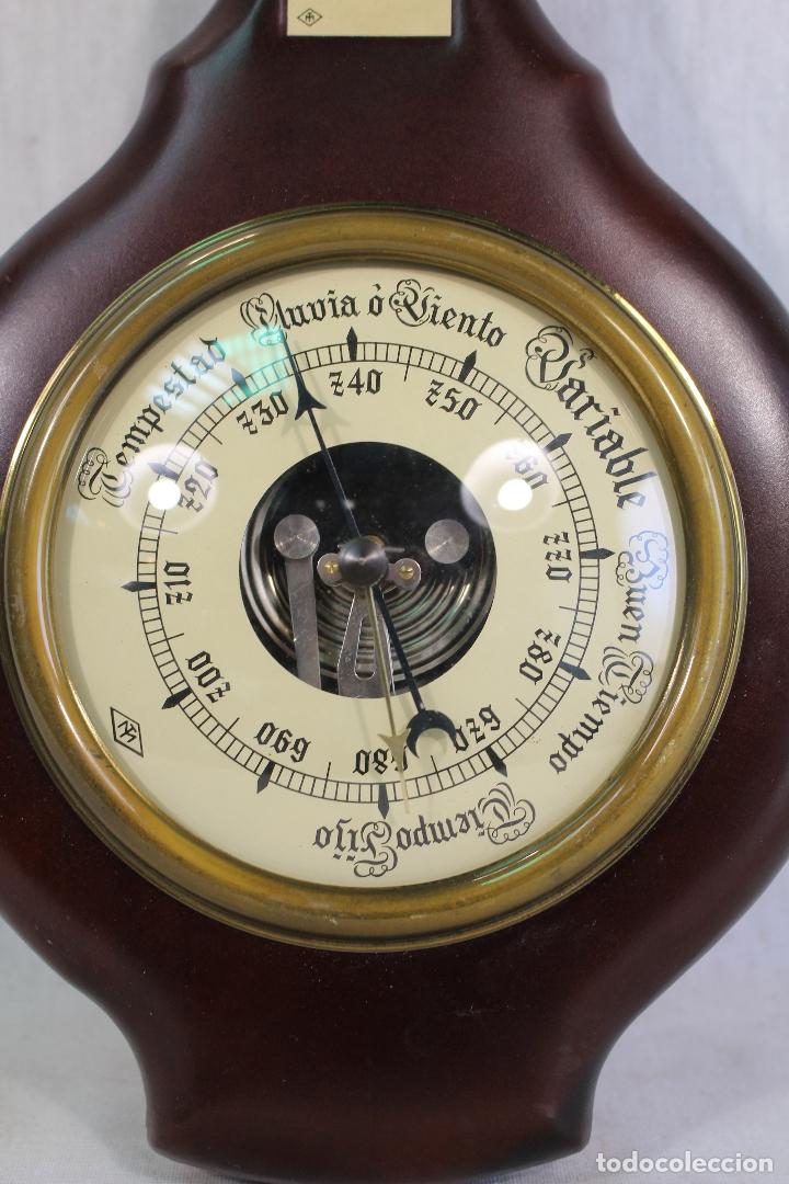Antigüedades: barometro termometro en semipiel - Foto 3 - 169264256