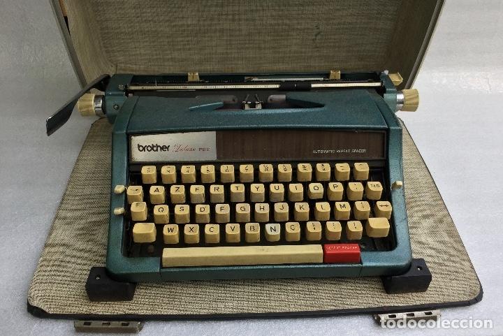 Antigüedades: Máquina de escribir Brother Deluxe 1522 - Foto 2 - 54172178