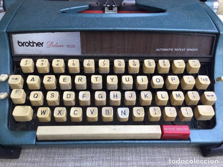 Antigüedades: Máquina de escribir Brother Deluxe 1522 - Foto 5 - 54172178