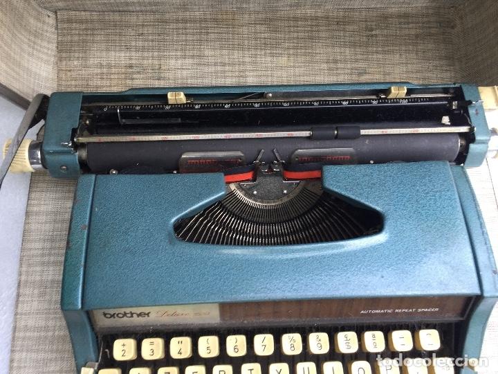 Antigüedades: Máquina de escribir Brother Deluxe 1522 - Foto 6 - 54172178
